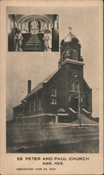 SS Peter and Paul Church, Dedicated June 29, 1920 Postcard