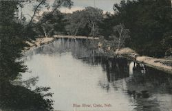 Blue River, Crete, Neb. Postcard