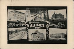 Greetings From Alliance, Nebr. Postcard