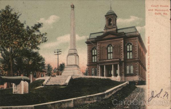 Court House and Monument Bath Maine