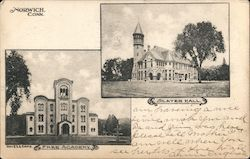 Norwich Free Academy and Slater Hall Postcard