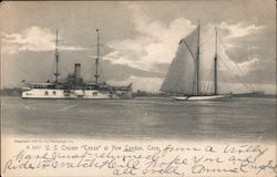 "U.S. Cruiser ""Texas"" Postcard"