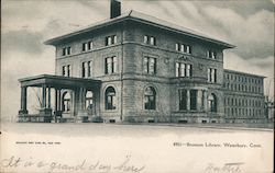 Bronson Library Building Postcard