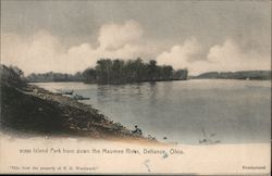Island Park from Down the aumee River Postcard