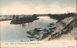 Island on Auglaize River Postcard