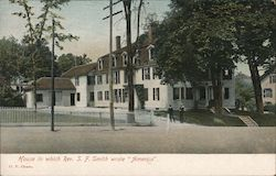 "House in Which Reverend S.F. Smith Wrote ""America"" Postcard"