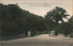 South St. Entrance, Arnold Arboretum and Hemlock Hill and Gourge Postcard
