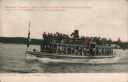 "Steamer ""Harriet"" One of the Six Express Boats Operated by the Twin City Rapid Transit Co Postcard"