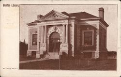 Grafton Library Postcard