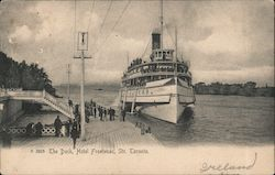 The Dock, Hotel Frontenac, Str. Toronto Postcard