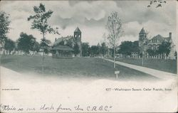 Looking Over Washington Square Postcard