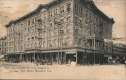 View of Rice Hotel Postcard