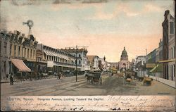 Congress Avenue, Looking Toward the Capitol Postcard