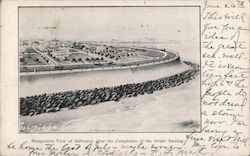 Prospective View of Galveston after the Completion of Grade Raising Postcard