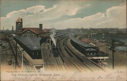 New Railroad Station Postcard
