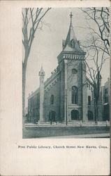 Free Public Library, Church Street Postcard