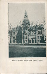City Hall, Church Street Postcard