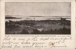 Panoramic View of Freeport, Casco Bay and Castle Postcard