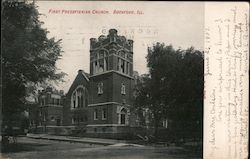 First Presbyterian Church Rockford, IL Postcard