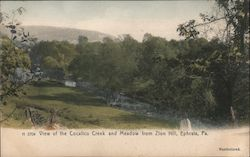 View of the Cocalico Creek and Meadow from Zion Hill Postcard
