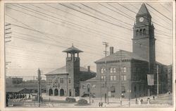 Fire Dept. and City Hall Postcard