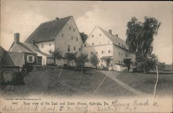 Rear View of the Saal and Sister House Postcard