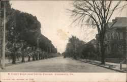 N. Street North from Capitol Grounds Postcard