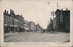 Michigan Street Looking South Postcard