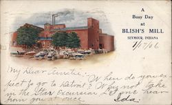 A Busy Day at Blish's Mill Postcard