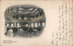 Section of Lobby French Lick Springs Hotel Postcard