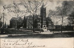 Street View of Normal School Postcard