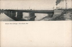 Wabash River Bridge Postcard