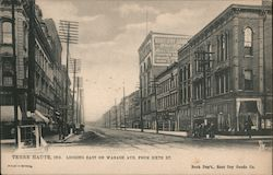 Looking East on Wabash Ave. from Sixth St. Postcard
