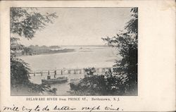 Delaware River from Prince St. Postcard