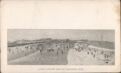 A Hot August Day at the Beach Postcard