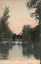 Boating on the Blue Postcard