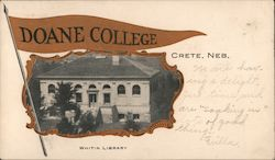 Whitin Library, Doane College Postcard