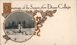 Greetings of the Season From Doane College Postcard
