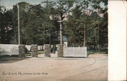 Entrance to Lake Grove Postcard