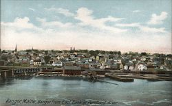 Bangor from East Bank of Penobsco Postcard