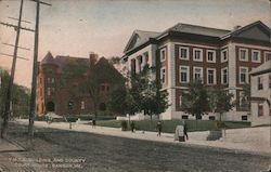 Y.M.C.A. Building and County Court House Postcard