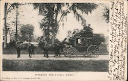 Fryeburg and Lovell Coach Postcard