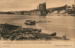 Hollingsworth & Whitney Mill, Winslow, Opposite Postcard