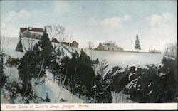 Winter Scene at Lover's Leap Postcard