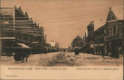 """Wire Storm"" - March 10, 1906 Postcard"