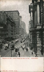 Randolph St. East from La Salle St. Postcard