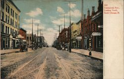 Commercial Ave. Looking North Postcard