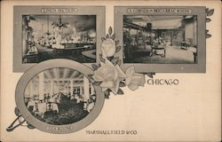 View of Sections in Marshall Field & Co. Postcard