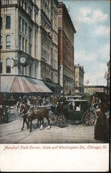 Marshall Field Corner, State and Washington Sts. Postcard