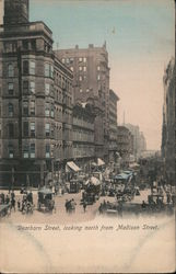 Dearborn Street looking north from Madison Street Postcard